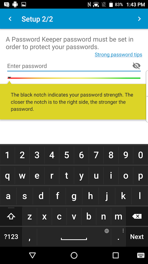 BlackBerry Password Keeper Screenshot 1