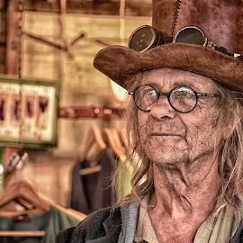 Jim by Marco Bertamé - People Professional People ( glasses, blond, brown, elderly, long, steampunk, hair, man, hat )