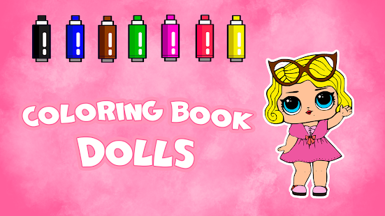 Coloring Book Dolls