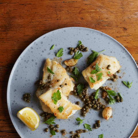 Skillet Cod with Lemon and Capers