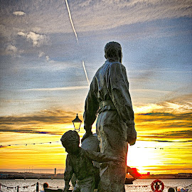 Legacy  by Stephen Carrigan - Artistic Objects Other Objects ( sculpture, sky, sunset, art, seascape )
