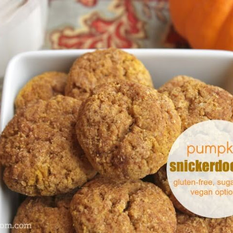Pumpkin Snickerdoodles (with gluten, dairy, egg, and sugar-free options)