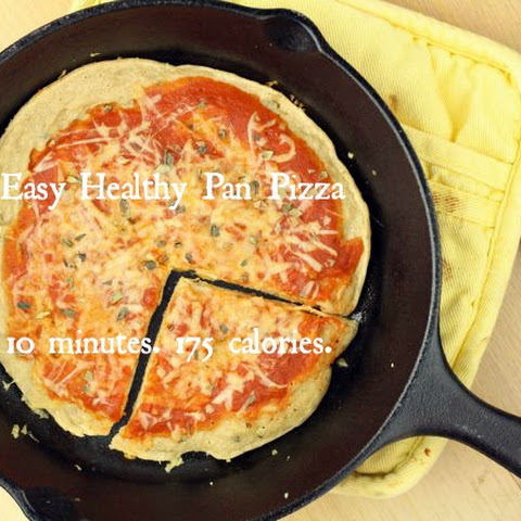 Easy Healthy Pan Pizza (Vegan/Gluten Free/Paleo/Low Carb)
