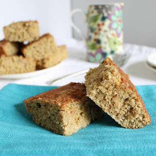 High Protein Cinnamon Cake Bars