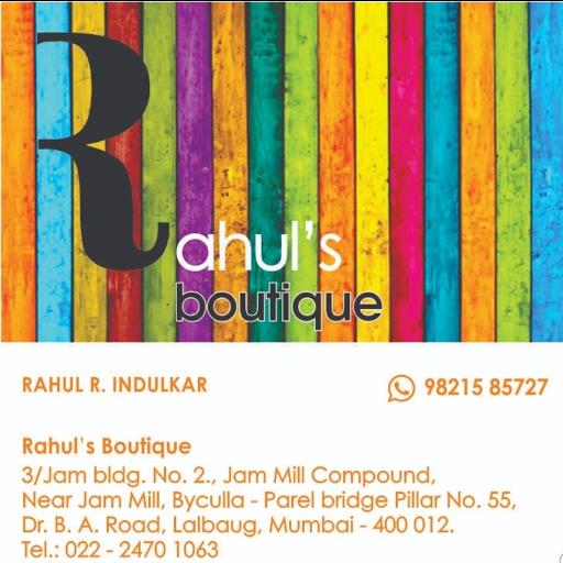 Rahul's Boutique, Lal Baug, Lal Baug logo