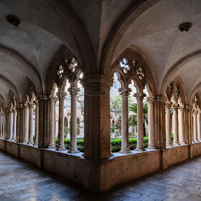 the cloister of the Dominican monastery by Miho Kulušić - Buildings & Architecture Public & Historical ( arch, cloister, arches, architectural, architecture,  )
