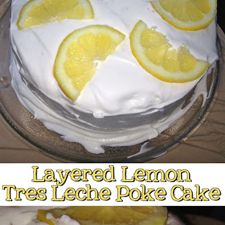 Layered Lemon Tres Leche Poke Cake