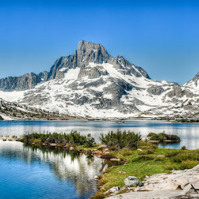 Banner Peak by Walter Hsiao - Landscapes Waterscapes ( banner peak, thousand island lake, ansel adams wilderness )