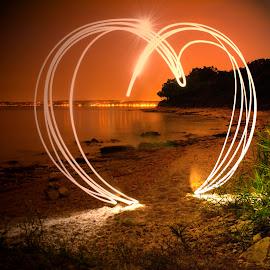 Light heart by Jurica Žumberac - Abstract Light Painting ( love, heart, light painting, lighting, long exposure, landscape, nightscape )