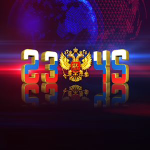 Russian Flag Digital Clock LWP