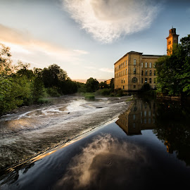 A Saltaire Morning by Andrew Holland - Landscapes Waterscapes