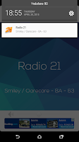 Screenshot of Radio 21