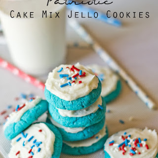 Patriotic Cake Mix Jello Cookies