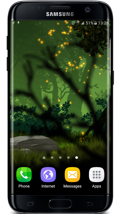 Firefly Forest Live Wallpaper Screenshot 2