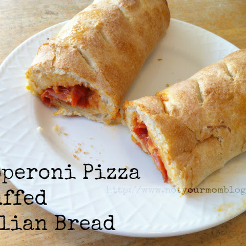 Pepperoni Pizza Stuffed Italian Bread -