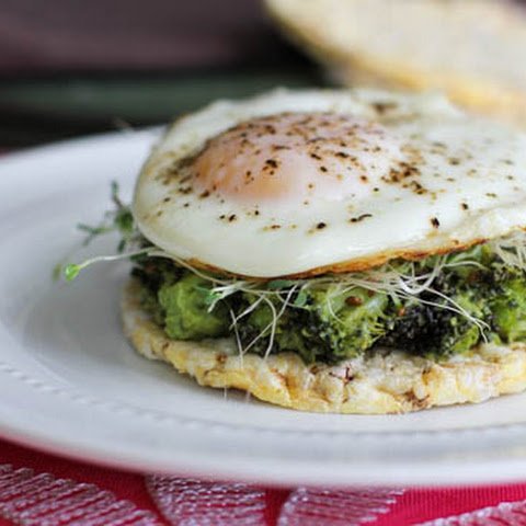 Broccoli Avocado and Egg Toast