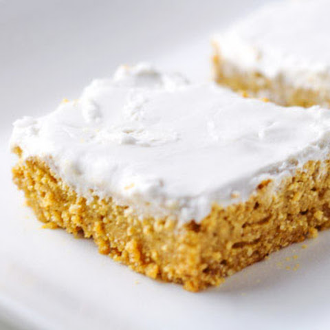 Paleo Pumpkin Bars with Coconut Whipped Cream Frosting
