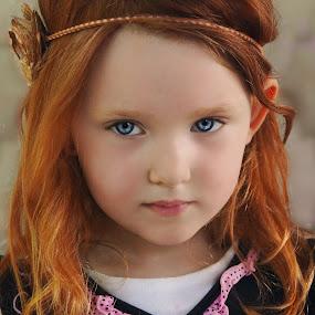 Red Princess by Cheryl Korotky - Babies & Children Child Portraits