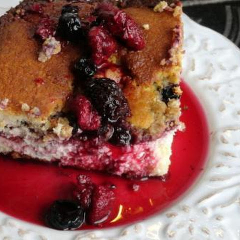 Triple Berry Cheesecake Cobbler