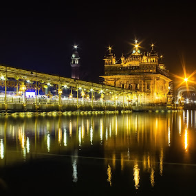 The Golden Temple by Jatin Malhotra - Buildings & Architecture Places of Worship ( temple, night, bliss, amritsar, golden )