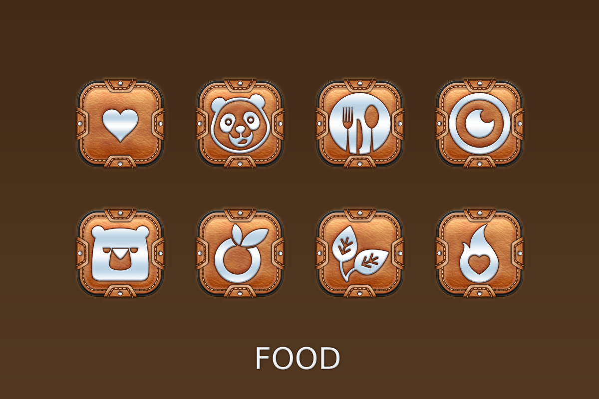 Leather Pouch-Icon Pack Screenshot 13