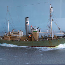 Model Whaling Ship by D. Bruce Gammie - Artistic Objects Education Objects ( aquarium, victoria, whale, fishing boat, miniature )