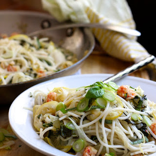 Light and Easy Spaghetti with Lemon, Fennel, Basil, and Langoustine