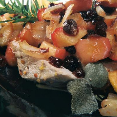 Apple Cranberry Pork Chop
