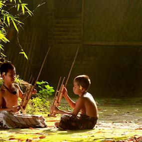 Let's play Angklung.... by Baron Danardono Wibowo - Babies & Children Children Candids