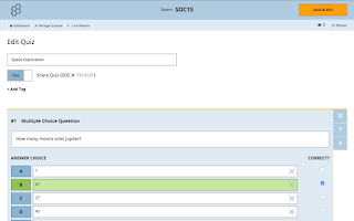 Screenshot of Socrative Teacher