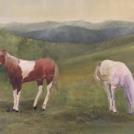 Horses by Ivana Tilosanec - Painting All Painting ( horses, horse )