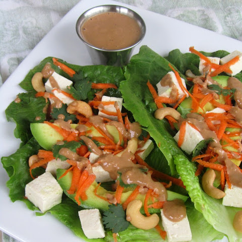 TOFU LETTUCE WRAPS WITH CASHEW SAUCE