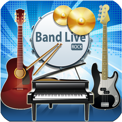 Band Live Rock (drum, bass, guitar, piano, mic) (game)