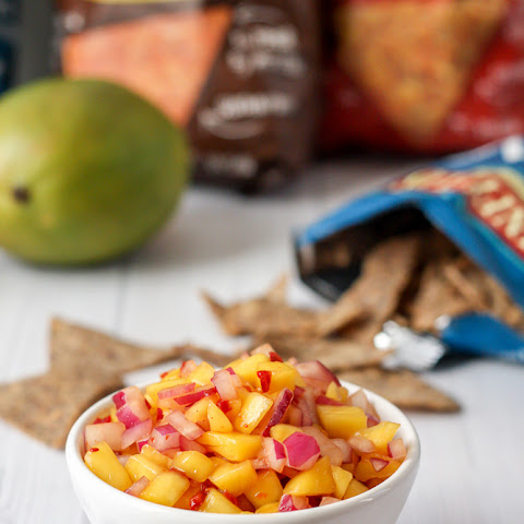 Chipotle Mango Salsa (Easy 3 Ingredient Recipe)