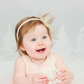 Sweet smile by Jenny Hammer - Babies & Children Babies ( girl, snowflake, baby, cute, pretty )