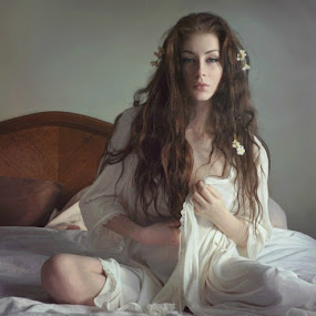 Illuminated Loneliness 19 by B Lynn - People Portraits of Women ( woman, boudoir, people, light, women )