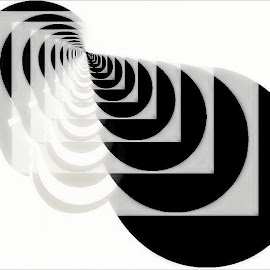 Contempo 28 by Nancy Bowen - Illustration Abstract & Patterns ( abstract, white, black, repetition )