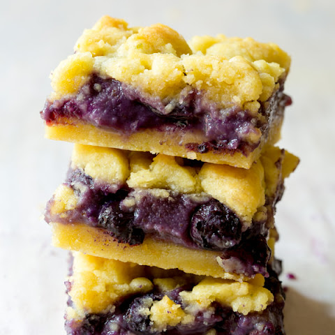 Gooey Blueberry Cookie Bars