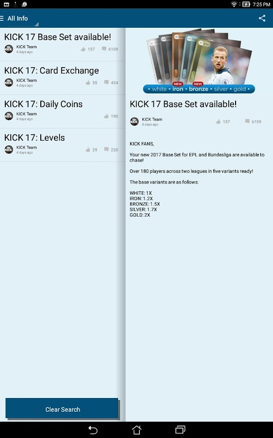 KICK: Football Card Trader Screenshot 5