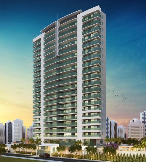 Apartamento alto padrão à venda no Guararapes. Lindo projeto,  221m2, 4 suítes, 4 vagas. Financia.