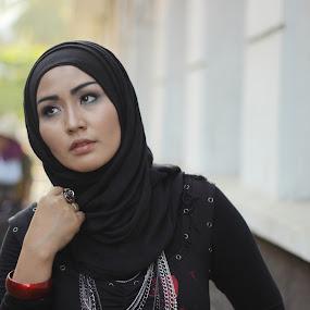black hijab by Budie Deathlust - People Portraits of Women