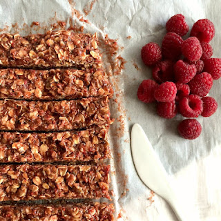 No Bake Raspberry Peanut Butter Bars