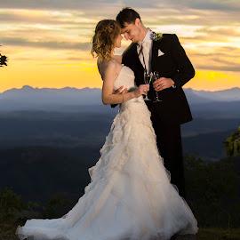 Sunset Waltz by Kathryn Cherry - Wedding Bride & Groom (  )