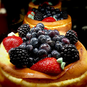 Fruit Topped Cheesecakes by Lope Piamonte Jr - Food & Drink Candy & Dessert