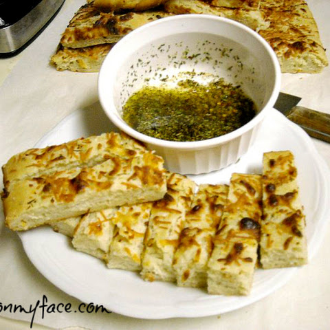 Sourdough Focaccia with olive oil dipping sauce