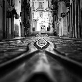 99.9 by Alex Eugenio - Black & White Street & Candid ( lisbon, alexeugenio, lisboa, bica elevador )