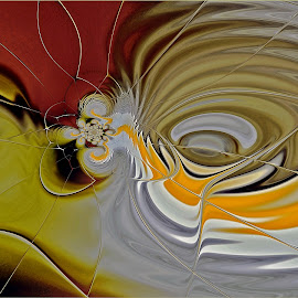 The Spill by Kittie Groenewald - Digital Art Abstract