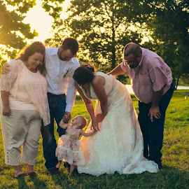 Looking Up by TJ Morrison - Wedding Groups ( love, child, family, wedding, daughter )