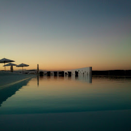 peace by Abilio Serrano - Instagram & Mobile Android ( water, sky, relax, pool, sunset )
