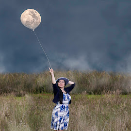 Beautiful Moons by Andrius La Rotta Esquivel - Digital Art People ( woman, composition, portraits of women, portrait photographers, girl, portrait, people, photography, digital art )